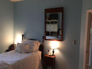 Residential interior painted bedroom by painters nh