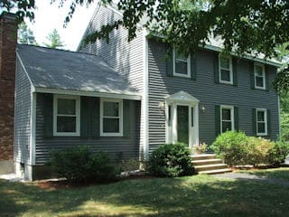 Exterior painting in Gilford NH customer review Tim Dabilis house