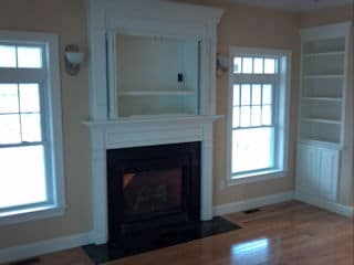 painters nh residential interior painted dining room with fireplace