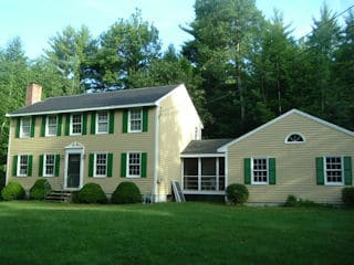 Exterior painting in Hollis NH customer review Annette Gampel house