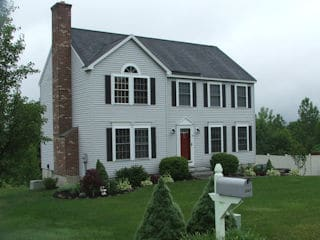 Exterior painting in Hooksett NH customer review Grace Borzell house