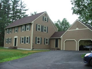 Exterior painting in Londonderry NH customer review Jim & Connie Weltzer house