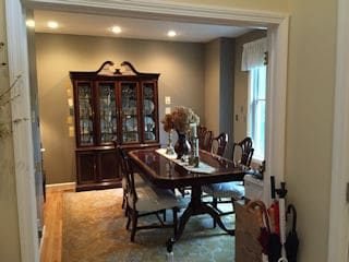 Interior painting in Milford NH customer review Susan Mika home