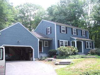 Exterior painting in Wilton NH customer review Michael and Elizabeth Theoloudou house